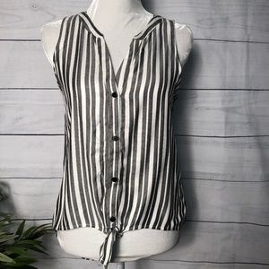 Sancturary Striped Hi-Lo Sleeveless Top NWT